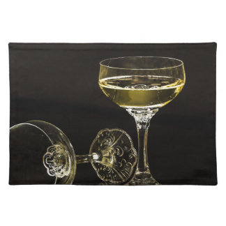 champagne glasses placemat