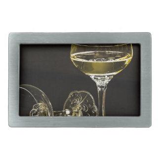 champagne glasses rectangular belt buckle