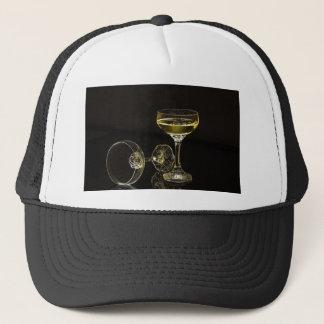 champagne glasses trucker hat