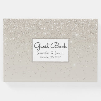 Champagne Glittery Wedding Guest Book