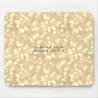Champagne Gold Bokeh Lights | Personalized Mouse Pad