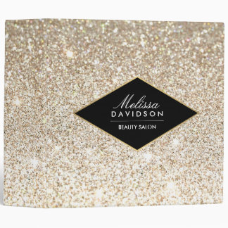 Champagne Gold Glitter and Glamour Binder