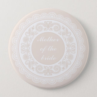 Champagne Lace Mother of the Bride Pin Badge
