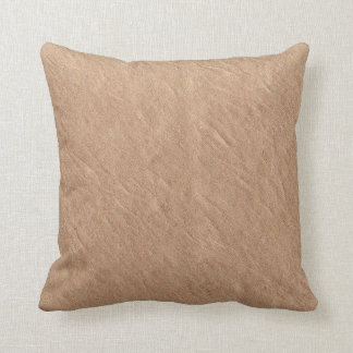 Champagne Leather Surface Minimalist Chic Vegan Throw Pillow