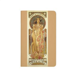 Champagne Notebook - Art Nouveau
