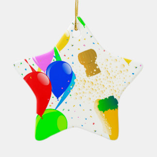 Champagne Party 2017 Ceramic Star Ornament