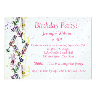 Champagne Party/ Birthday Card