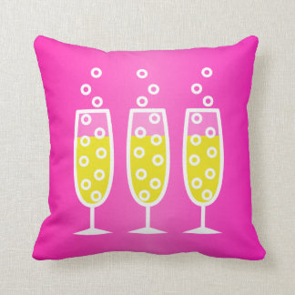 Champagne - pink throw pillow