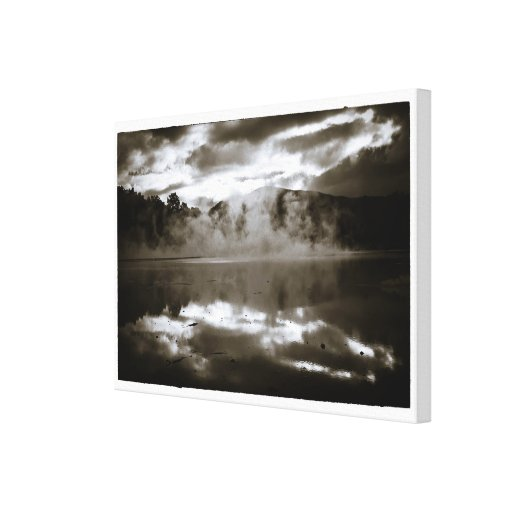 Champagne Pool black & white Gallery Wrapped Canvas