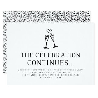 Champagne Pop | Wedding After Party Invitation