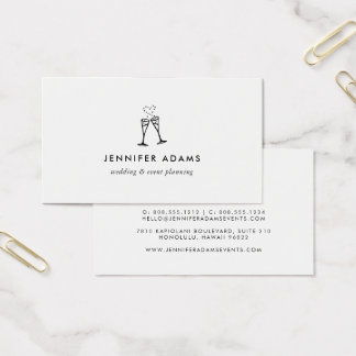 Champagne Pop | Wedding or Event Planner Business Card