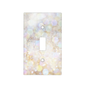 Champagne Rainbow Bokeh Glitter Glam Girly Girls Light Switch Cover