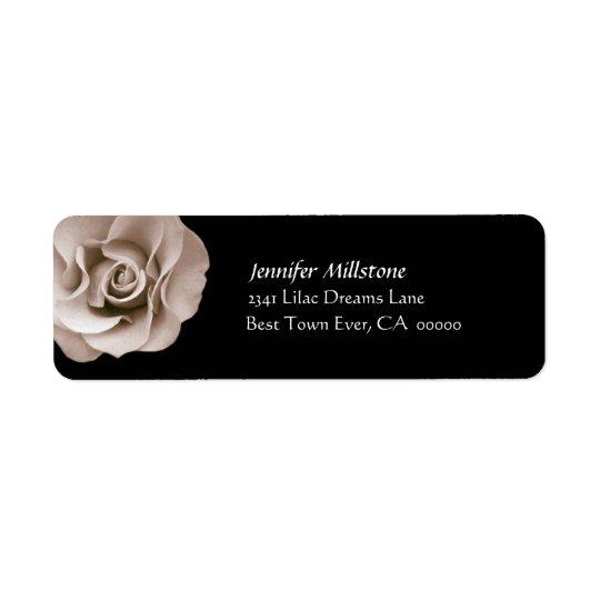 CHAMPAGNE Rose Wedding Address Label