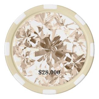 Champagne Sapphire Cream Gem Stone Poker Chip