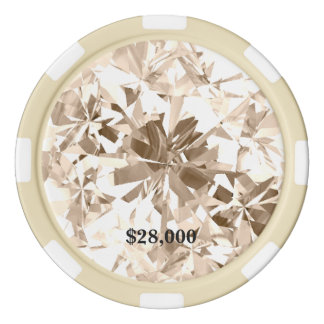 Champagne Sapphire Cream Gem Stone Poker Chip Poker Chips