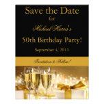 Champagne Save the Date Invitation