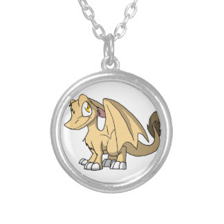 Champagne SD Furry Dragon Silver Plated Necklace