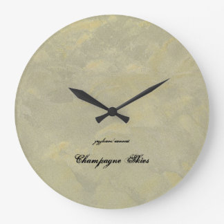 Champagne Skies Clock