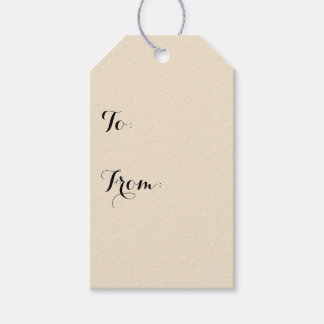 Champagne Solid Color Gift Tags