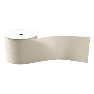 Champagne Solid Color Grosgrain Ribbon