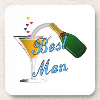 Champagne Toast Best Man Beverage Coaster
