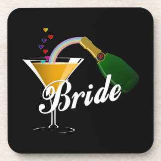 Champagne Toast Bride Beverage Coasters