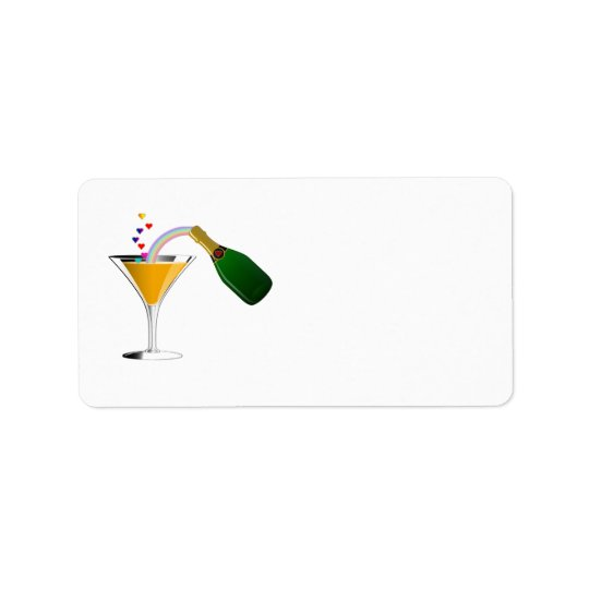 Champagne Toast Label