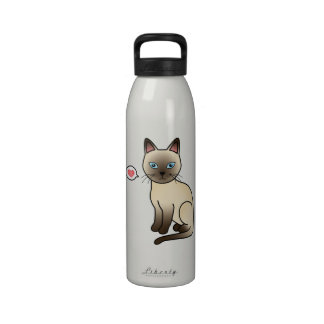 Champagne Tonkinese Cat Love Drinking Bottle