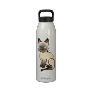 Champagne Tonkinese Cat Reusable Water Bottles