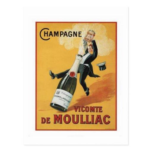 Champagne Viconte De Mouillac Cartes Postales