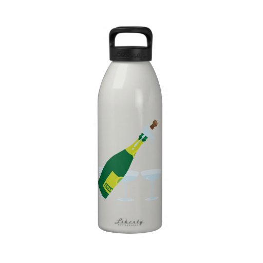 Champagne Water Bottles