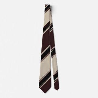 Champagne Wine and Blackberry Striped Tie