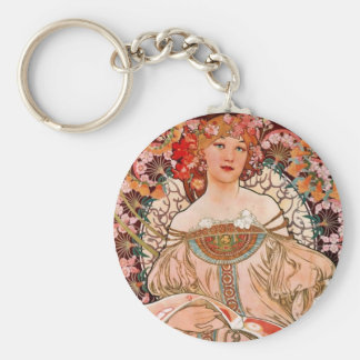 Champagne Woman - F. Champenois Imprimeur Keychain