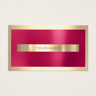 Champaigne Gold Frame Metallic Pink Candy Minimal Business Card