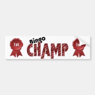 Champion Bumpersticker de place de champion de bin Autocollant De Voiture