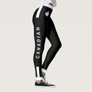 Champion Canadian Maple on Black (cust) Leggings