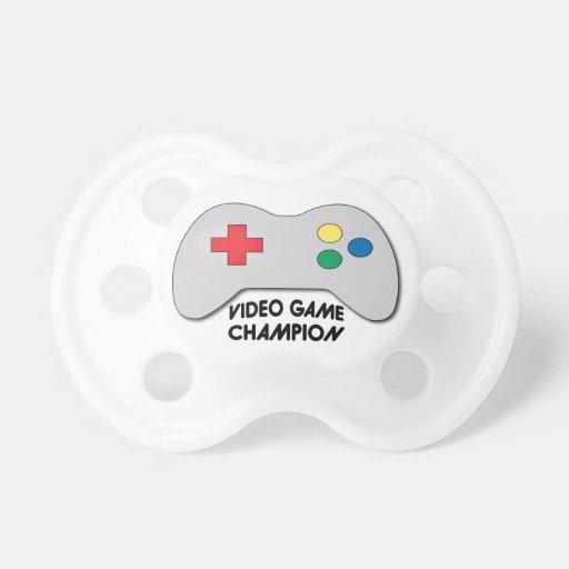 Champion de jeu vidéo sucette pour bébé