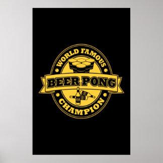 Champion de puanteur de bière affiche