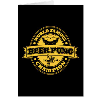 Champion de puanteur de bière carte de vœux
