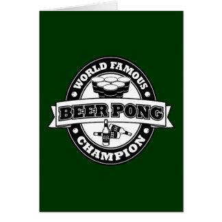 Champion de puanteur de bière cartes de vœux