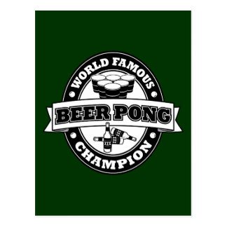 Champion de puanteur de bière cartes postales
