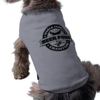 Champion de puanteur de bière vêtement pour animal domestique