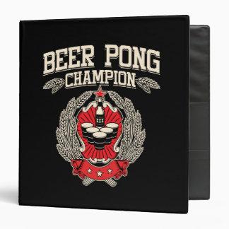 Champion de puanteur de bière classeur 3 anneaux