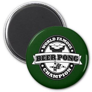 Champion de puanteur de bière magnet rond 8 cm