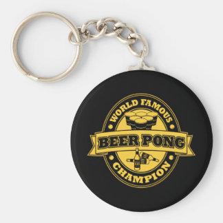Champion de puanteur de bière porte-clé rond