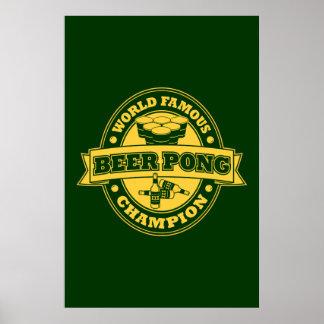 Champion de puanteur de bière posters