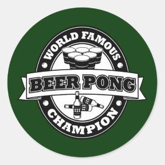 Champion de puanteur de bière sticker rond