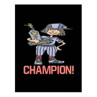 Champion du base-ball cartes postales