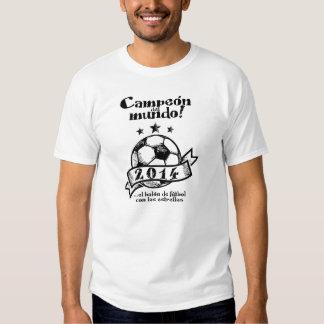 Champion du Monde ! … le ballon de football avec l Tshirts