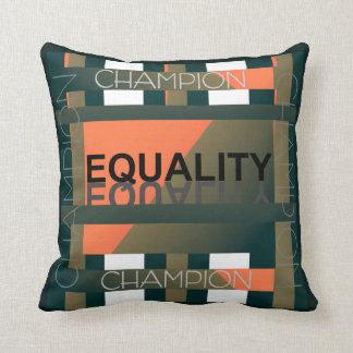 Champion for Equality Pillow - Green/Peach/White